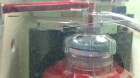 Centrifuging blood stock video footage