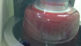 Centrifuging blood stock footage