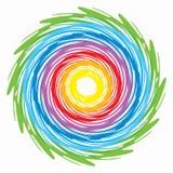 Centrifugue cores do arco-íris Fotos de Stock Royalty Free