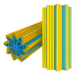 Centriole structure Stock Photo