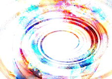 Centripetal circle shapes on abstract colorful cosmic stock illustration