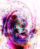 Centripetal circle shapes on abstract colorful cosmic. Stock Photos