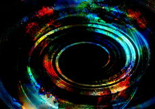 Centripetal circle shapes on abstract colorful cosmic backgroung. Centripetal circle shapes on abstract colorful cosmic backgroung stock illustration