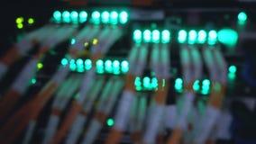 Centro óptico de los datos Luces grandes del centro de datos metrajes