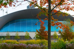 Centro acquatico di Londra, parco olimpico, Londra, Regno Unito fotografie stock libere da diritti
