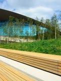 Centro acquatico di Londra, Stratford, Londra Il Regno Unito immagine stock libera da diritti