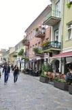Centro augusto 21,2014-Historic di Kaunas di Kaunas in Lituania Immagini Stock Libere da Diritti