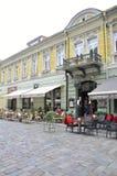Centro augusto 21,2014-Historic di Kaunas di Kaunas in Lituania immagini stock