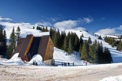 Centro, Bósnia e Hercegovina do esqui de Jahorina Fotografia de Stock