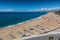 Centro beach in Santa Cruz, Portugal. Royalty Free Stock Images