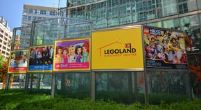 Centro Berlim da descoberta de Legoland no quadrado de Potsdam, Potsdamer Platz, Alemanha foto de stock