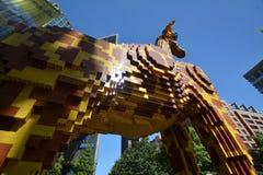 Centro Berlim da descoberta de Legoland no quadrado de Potsdam, Potsdamer Platz, Alemanha foto de stock royalty free