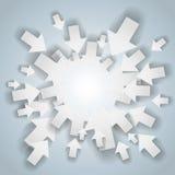 Centro bianco delle frecce Fotografia Stock Libera da Diritti
