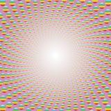 Centro brillante coloreado espiral del modelo del rosa stock de ilustración