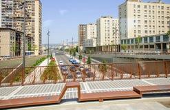 Centro centro da cidade da estrada de Marselha, França Fotos de Stock Royalty Free