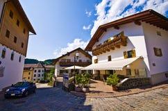 Centro città di Alpe di Siusi Fotografia Stock