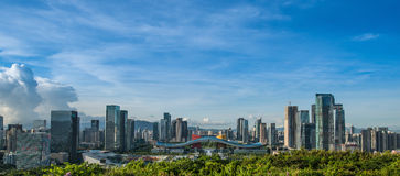 Centro cittadino CBD di Shenzhen Immagini Stock Libere da Diritti