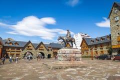 Centro cittadino Centro Civico e quadrato principale in Bariloche del centro - Bariloche, Patagonia, Argentina fotografia stock