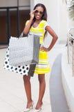 Centro comercial africano da mulher Imagens de Stock Royalty Free