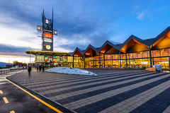 Centro comercial de Coresi, Brasov, Rumania Imagen de archivo libre de regalías