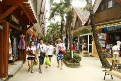 Centro comercial de D'Mall en la playa de Boracay Imagenes de archivo