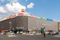 Centro comercial de la alameda de Unirea (Magazinul Unirea) en Bucarest fotografía de archivo libre de regalías