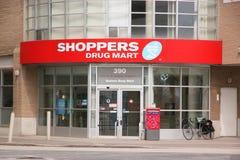 Centro comercial de la droga de los compradores Imagen de archivo