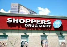 Centro comercial de la droga de los compradores Imagenes de archivo