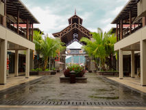 Centro comercial de la isla de Eden - Seychelles foto de archivo