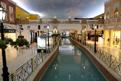 Centro comercial Doha, Qatar de Villagio Imagen de archivo