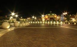 Centro comercial en el tiempo de la Navidad Fotografía de archivo libre de regalías