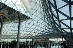 Centro comercial futurista Foto de archivo
