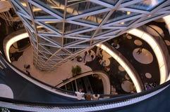 Centro comercial futurista Fotografía de archivo libre de regalías