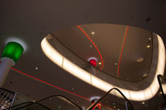 Centro comercial futurista en Francfort fotos de archivo