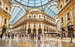 Centro comercial Milán Fotos de archivo libres de regalías