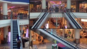 Centro comercial moderno vídeos de arquivo