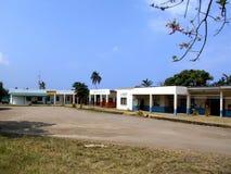 Centro comercial simple en la isla del Pacífico Imagen de archivo libre de regalías