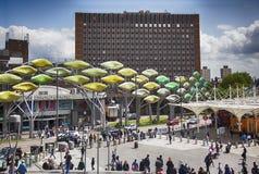 Centro comercial Stratford, suburbio de Londres cerca Imágenes de archivo libres de regalías