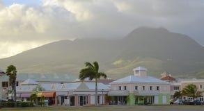 Centro commerciale caraibico variopinto Fotografie Stock
