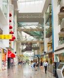 Centro commerciale centrale di Quay della barca Singapore Immagini Stock