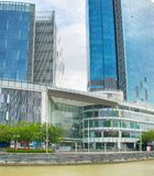Centro commerciale centrale di Quay della barca, Singapore Fotografia Stock Libera da Diritti