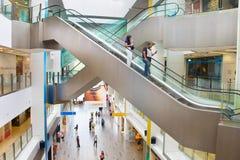 Centro commerciale centrale di Quay della barca Singapore Fotografie Stock Libere da Diritti