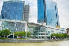 Centro commerciale centrale di Quay della barca, Singapore Immagini Stock