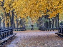 Centro commerciale del Central Park in autunno immagini stock