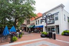 Centro commerciale del centro Charlottesville VA Immagini Stock Libere da Diritti