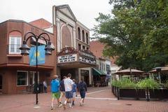 Centro commerciale del centro Charlottesville VA Immagine Stock