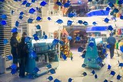 Centro commerciale del centro commerciale del Dubai dentro la vista di dipartimento Immagini Stock