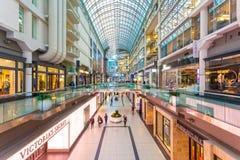 Centro commerciale del centro di Eaton a Toronto, Canada Immagine Stock Libera da Diritti