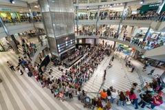 Centro commerciale dell'America durante la giornata indaffarata Immagine Stock