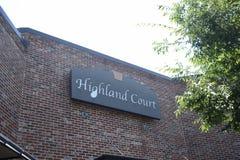 Centro commerciale della corte dell'altopiano, Hernando, Mississippi fotografia stock libera da diritti